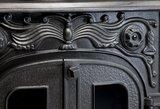 Eros 2 houtkachel front sierlijk detail Globe Fire