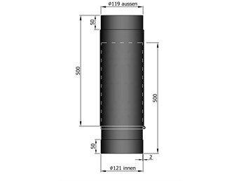 telescooppijp 120 doorsnede 2 mm staal de kachelerij